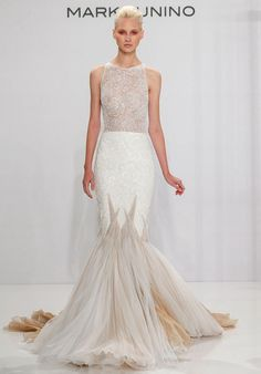 Beaded Lace Mermaid Gown | Mark Zunino for Kleinfeld 204 | http://trib.al/LZSXeAp