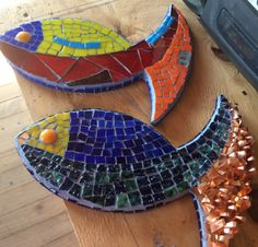 Peces cobre y mosaico