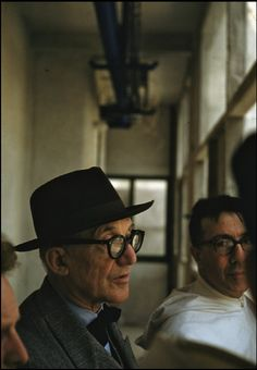 Rene Burri Swiss architect, painter & urbanist LE CORBUSIER. 1959.