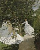 Claude Monet. Women in the Garden. This website has additional information and you can click the image to make it larger.