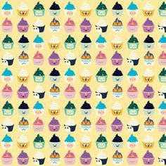 Adventure Time Kawaii Cupcake Characters Sweet fabric by kathrynrose on Spoonflower - custom fabric