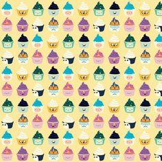 Adventure Time Kawaii Cupcake Characters Sweet fabric by kathrynrose on Spoonflower - custom fabric