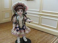 """unknown artist - 4"""" tall Bru style Victorian child"""