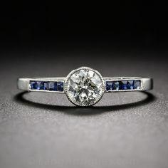 .48 Carat Diamond and Sapphire Engagement Ring