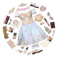 """""""BABYGIRL"""" by ode-to-sleeep ❤ liked on Polyvore featuring River Island, Dolce&Gabbana, Hansel from Basel, Edie Parker, Chanel, Dr. Martens, Anastasia Beverly Hills, Olivine, Huda Beauty and Bobbi Brown Cosmetics"""