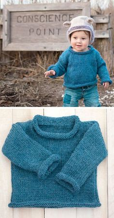 Free Baby Sweater Knitting Patterns, Knit Cardigan Pattern, Crochet Baby Cardigan, Knit Baby Sweaters, Knitting For Kids, Free Knitting, Easy Knit Baby Blanket, Baby Kind, Crocheting