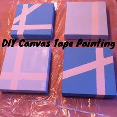CupcakesandHomeschool: DIY Canvas Tape Painting