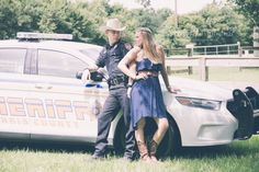 engagement, couples, police, sheriff, law enforcement