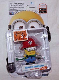 e50ae0921e Buy Despicable Me 2 Poseable 3 Inch Action Figure Minion Fireman online