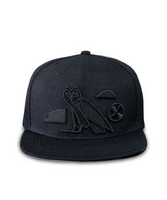 Back in stock! The NUWBIA KMT (Kemet) All Black Snapback Cap. Our new fitted is designed with all Mdw Ntr (hieroglphic) symbols. The front symbols ...