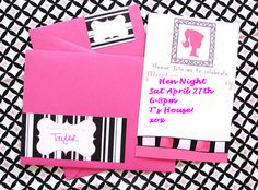 Barbie Inspired invitations
