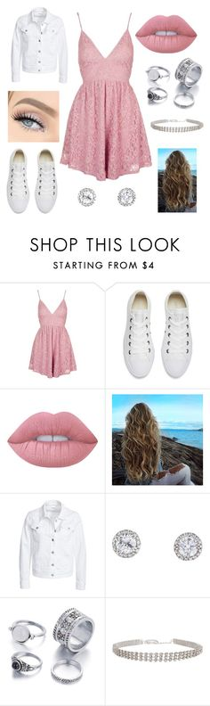 """""""A little pink"""" by alicia-brockett ❤ liked on Polyvore featuring Topshop, Converse, Lime Crime, Filippa K and Humble Chic"""