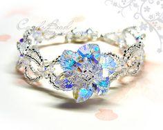 Swarovski Crystal Bracelet Sparkling Flower Swarovski por candybead