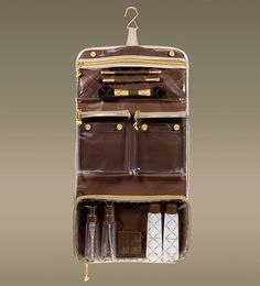 Overnight 2-in-1 Hanging Traveler Organizer Bag, Champagne   Mini Kittour - Designer Cosmetics Travel Accessories