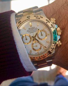 Rolex Daytona Steel & Gold White Dial 116503 #men'sjewelry