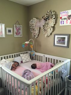 did you know that there are special cribs made for twins? check outcrib for twins or multiples more