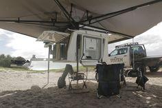 Survival camping tips Diy Camper Trailer, Slide In Camper, Trailer Tent, Pickup Camper, Off Road Camper, Trailer Build, Canoe Camping, Truck Camping, Camping Hacks