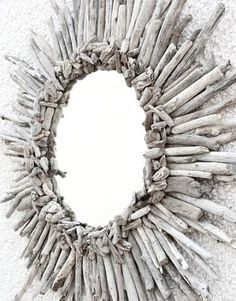 Sunburst Mirror made of Driftwood