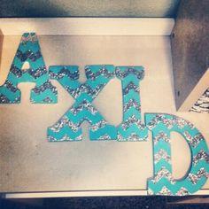 My new letters...csusm alpha xi delta