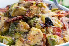 Choux de Bruxelles au bacon et à la moutarde WW, recette d'un bon plat de choux de Bruxelles avec une bonne sauce crémeuse à la moutarde très facile à réaliser pour un repas complet et équilibré.