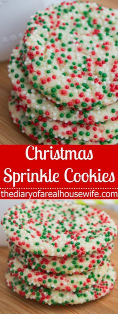 Christmas Sprinkle Cookies. This is such a fun cookie and it was so yummy! A must try this year.