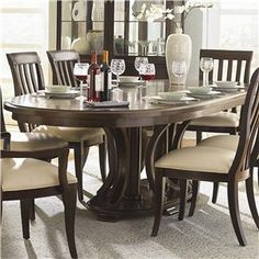 Bernhardt Westwood Double Pedestal Dining Table - 318-244+242