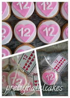 Party favors for 12 yrs old. Cookies with heart-shaped.