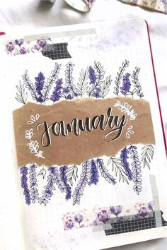 Check out the 30 best January BULLET JOURNAL monthly cover ideas for inspiration! February Bullet Journal, Bullet Journal Cover Ideas, Bullet Journal Notebook, Bullet Journal Ideas Pages, Journal Covers, Bullet Journal Inspiration, Bullet Journal Months, Bullet Journal Title Page, Bullet Journal Monthly Calendar