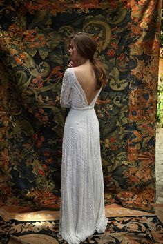 2016 Sexy Lace Long Sleeve Wedding Dresses Deep V Neck Open Back A Line Bridal Gowns Lihi Hod White Bohemia Boho Wedding Dress Custom Made Used Wedding Dresses Wedding Dresses Cheap From Rieshaneeawedding, $159.8| Dhgate.Com