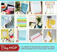 12 FREE Spring Printables from Creative Bloggers! http://www.thetomkatstudio.com/printablemothersdaycard/