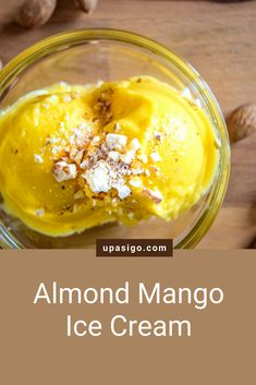 This vegan, two-ingredient almond mango ice cream is easy, healthy, and refreshing. It is the perfect, guilt-free nice cream dessert for a hot summer day. Vegan Vegetarian, Vegetarian Recipes, Mango Ice Cream, Nice Cream, Vegan Life, Dairy Free, Food Photography, Almond, Food Porn
