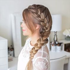 Braided Hairstyle for Long Hair! Today we are goin… Braided Hairstyle for Long Hair! Today we are going to talk about those gorgeous braid styles. I will show you the best and trendy hair braid styles with some video tutorials. Braided Hairstyles Tutorials, Easy Hairstyles For Long Hair, Diy Hairstyles, Halloween Hairstyles, Hairstyles Videos, Side Braids For Long Hair, School Hairstyles, Easy Hairstyles For Weddings, Flower Headband Hairstyles