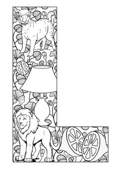Things that start with L - Free Printable Coloring Pages
