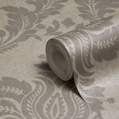 Grandeco Majestic Grey Damask Glitter Effect Wallpaper | Departments | DIY at B&Q