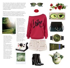 """""""IN THE GARDEN"""" by polaroidandfashion on Polyvore featuring H&M, Chloé, Tom Ford, Ray-Ban, Casetify, Henry London, Olivina, Franz Collection, Polaroid and Free Country"""