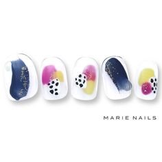 #マリーネイルズ #ネイル #kawaii #kyoto #ジェルネイル #ネイルアート #swag #marienails #ネイルデザイン… Summer Acrylic Nails, Acrylic Nail Art, Gel Nail Art, Easy Nail Art, Asian Nail Art, Asian Nails, Glam Nails, Nude Nails, Nails 2017