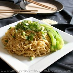 Peanut and sesame noodles