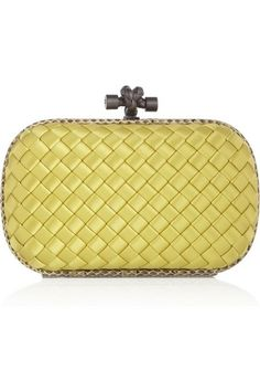 Bottega Veneta primrose yellow The Knot intrecciato satin clutch. Soultana  Gulbinas · bags and shoes f93a1365dfbef