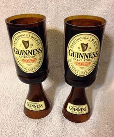 Guinness Beer Bottle Wine Glasses. Recycled Glass Bottles. on Etsy, $17.00
