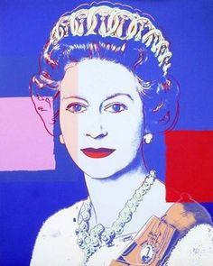La reine Elizabeth II, par Andy Warhol ㊗️ART AND IDEAS : More At FOSTERGINGER @ Pinterest  ㊙️㊗️