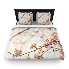 KESS InHouse Japanese Blossom by Catherine McDonald Featherweight Duvet Cover & Reviews | Wayfair