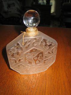 J.C. Brosseau Glass Perfume Bottle (Circa 1980)