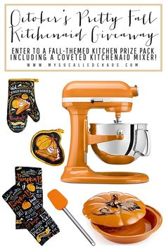Fall Big KitchenAid Giveaway - Enter to win stylish baking supplies just in time for the holidays! Who couldn't use a KitchenAid mixer? Squash In Oven, Books New Releases, Twice Baked Potatoes Casserole, Baking Supplies, Autumn Theme, Kitchen Aid Mixer, Home Crafts, Kitchenaid, My Favorite Things