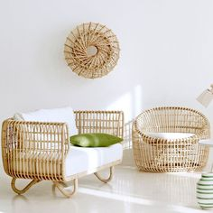 Rattan furniture will lead us to have vintage room decoration. However, you may use it for modern room decor as well. It deals with rattan is easy material that easy to be shaped in various style. So, it will blend and look cohesive with other furniture. Rattan Furniture, Decor, Rattan Armchair, Furniture Design, Furnishings, Furniture, Home Furniture, Bamboo Furniture, Shabby Chic Furniture
