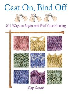 Check out Cast On, Bind Off: 211 Ways to Begin and End Your Knitting on Craftsy! - Shop Craftsy's premiere assortment of knitting supplies and save! Get the Cast On, Bind Off: 211 Ways to Begin and End Your Knitting before it sells out. Knitting Help, Loom Knitting, Knitting Stitches, Knitting Patterns, Crochet Patterns, Bind Off Knitting, Knitting Books, Start Knitting, Beginner Knitting