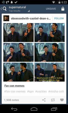 #Supernatural haha .. Jensen Ackles Misha Collins