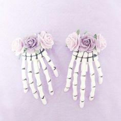 pastel goth hair clips