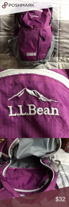 Llbean hiking backpack In perfect condition. Llbean products are made to last! They also have a lifetime warranty so if it ever shows signs of wear they'll replace it for free. L.L. Bean Bags Backpacks