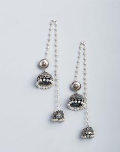 Silver Anusuya ES 2187 Jhumka Earrings