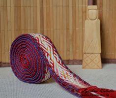 Купить Огнивец - мужской тканый пояс, ярга, огнивец, handmade, ручная работа, Ткачество